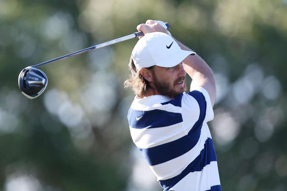 PALM BEACH GARDENS, FLORIDA - FEBRUARY 29: Tommy Fleetwood of England plays his shot from the 18th tee during the third round of the Honda Classic at PGA National Resort and Spa Champion course on February 29, 2020 in Palm Beach Gardens, Florida. (Photo by Matt Sullivan/Getty Images) Photo: Matt Sullivan / Getty Images