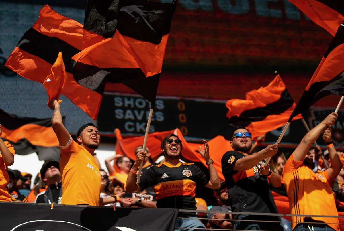 Even with Mexican star Chicharito playing for the visiting LA Galaxy, BBVA Stadium was filled with fans in Dynamo gear.