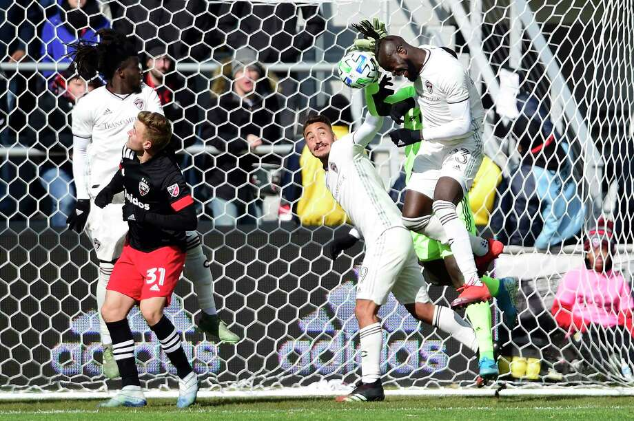 WASHINGTON, DC - FEBRUARY 29: Bill Hamid #24 of D.C. United makes a save against Kei Kamara #23 of Colorado Rapids in the second half at Audi Field on February 29, 2020 in Washington, DC. (Photo by Patrick McDermott/Getty Images) Photo: Patrick McDermott / 2020 Getty Images