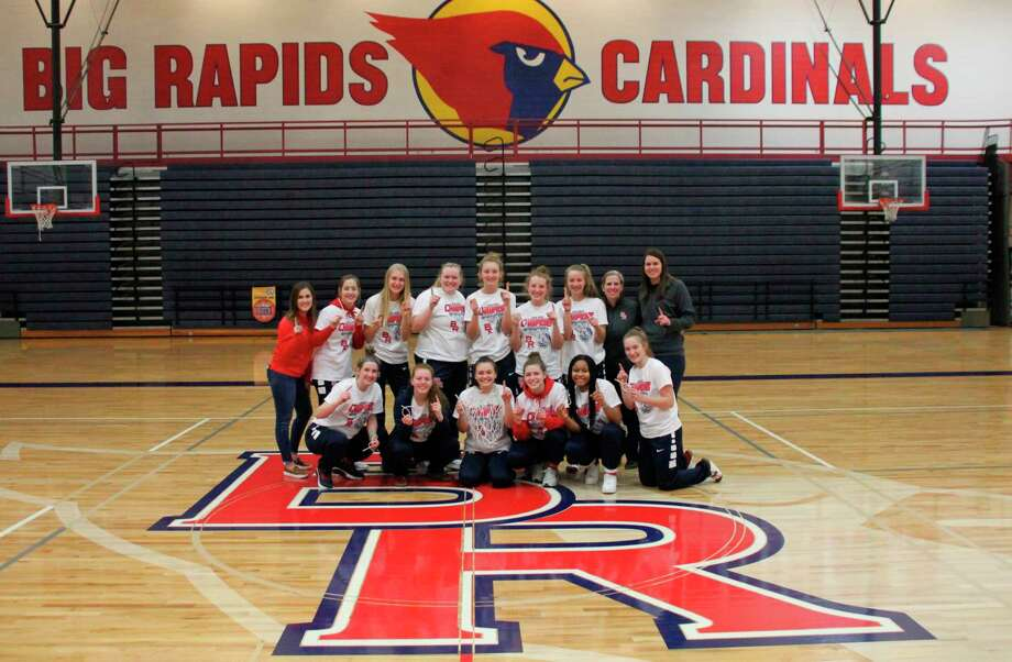The Big Rapids girls basketball team clinched the CSAA Gold co-division title on Friday. (Courtesy photo)