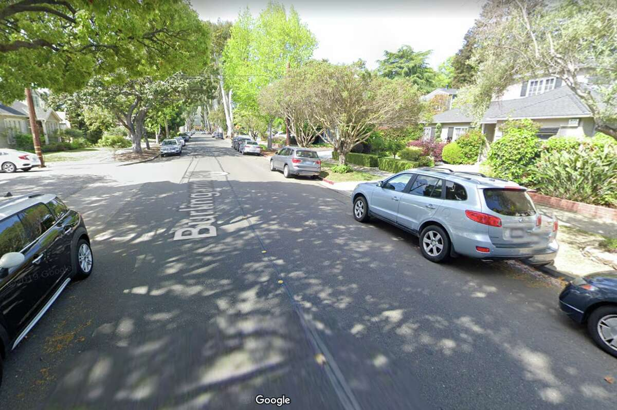 The 800 block of Burlingame Ave., in Burlingame, Calif, where the driver of an SUV was arrested after allegedly intentionally ramming four teenage pedestrians on Feb. 29, 2020.