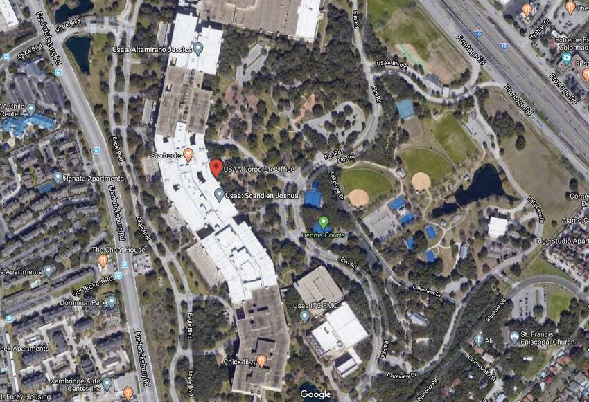 Click through to see some of the many amenities at USAA's San Antonio campus, shown here.