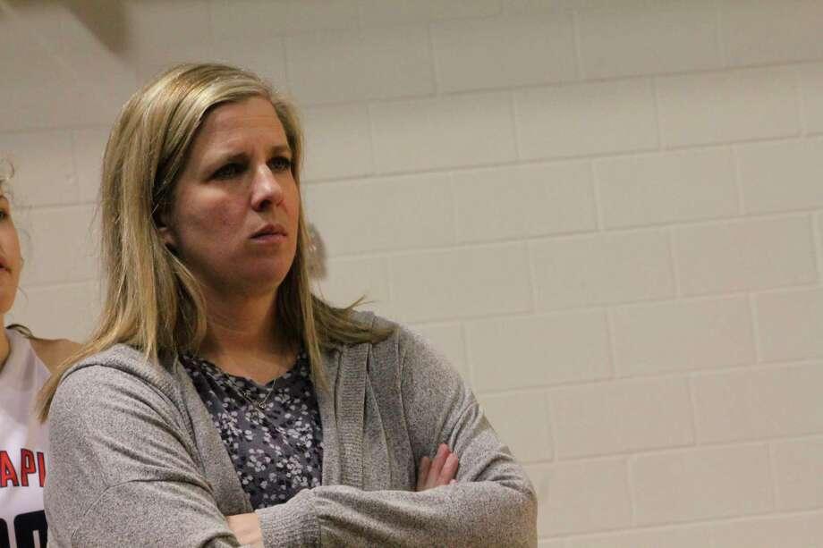 Big Rapids coach Jessica Haist and her players enter district play tonight. (Pioneer photo/John Raffel)