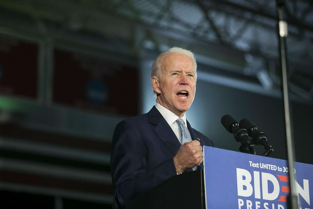 Former Vice President Joe Biden speaks after winning the South Carolina Democratic Primary, in Columbia, S.C., Feb. 29, 2020.