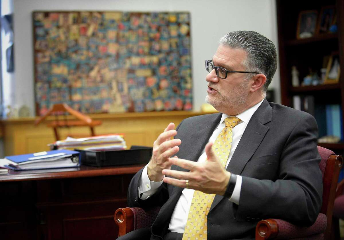 Richard Colangelo, who was appointed in January as the new chief state's attorney, discusses the Jennfer Dulos case in his Rocky Hill office.