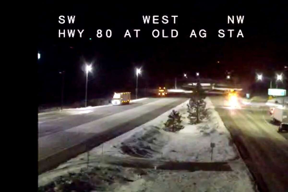 A section of Interstate 80 over the Sierra Nevada was closed early Monday due to winter conditions.