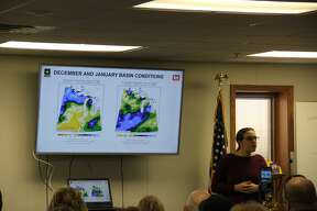About 200 people came to the Caseville Fire Hall on Friday to learn about high water levels along the Lake Huron shoreline. Many different agency representatives came to explain why the lake levels are high and what can be done about it.