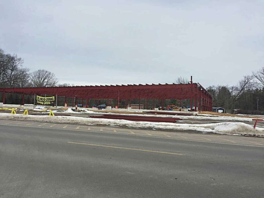 Progress continues on rebuilding the Dublin General Store which burned down last summer. The new customer appreciation sign is expected to be completed roughly in line with the stores relaunch. (Courtesy Photo/John Stocki)