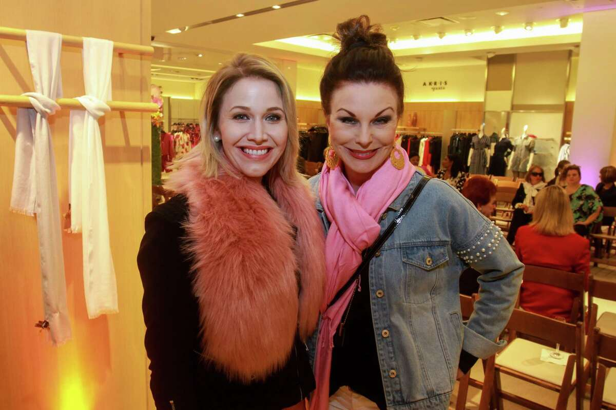 Michele Renae, left, and Lorie Line at the Neiman Marcus spring trends cocktail party on February 12, 2020 at Neiman Marcus in Houston.