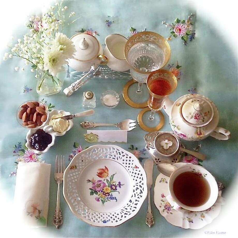 Norwalk's Lockwood-Mathews Mansion Museum will host Afternoon Tea expert Ellen Easton for an illustrated talk April 26. Pictured is an Afternoon Tea for one place setting. Photo: Ellen Easton / Contributed Photo
