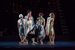 """Artists of Houston Ballet in Christopher Bruce's warm-hearted """"Hush,"""" one of the works on the company's Forged in Houston program March 12-22."""