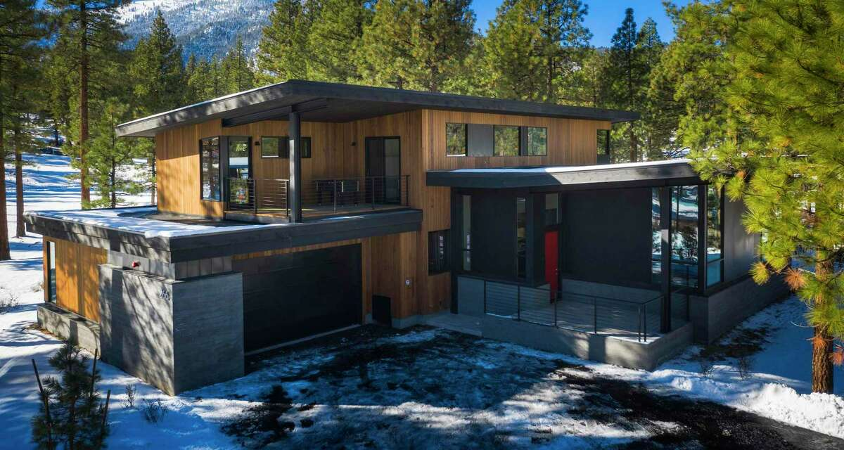 The custom, contemporary five-bedroom at 266 Redding Way resides within the gated Clear Creek Tahoe community in Nevada.