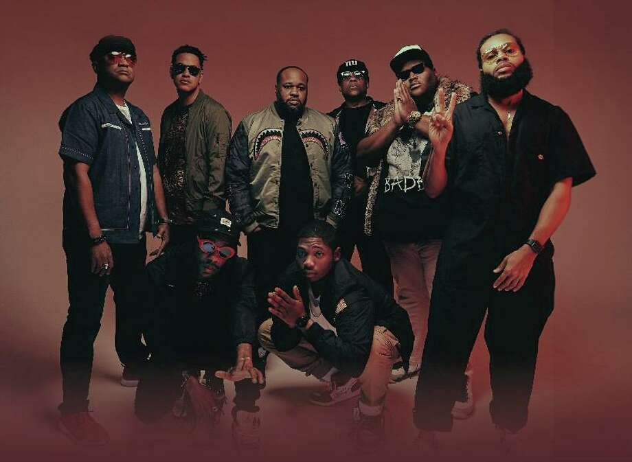 The Soul Rebels will perform at Hartford's Infinity Music Hall March 11 and at Fairfield Theatre Company's StageOne March 12. Standing, from left, are Derrick Moss, Marcus Hubbard, Erion Williams, Lumar LeBlanc, Paul Robertson and Julian Gosin. Seated, from left, are Corey Peyton and Manny Perkins. Photo: Louis Browne / Contributed Photo