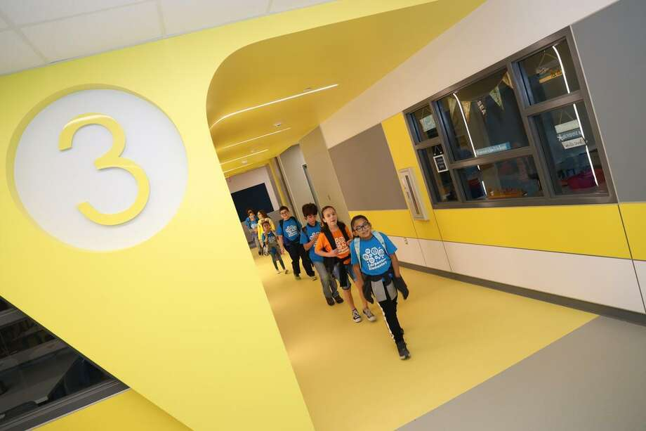 The 142,440 square foot rebuild of Deer Park ISD's Carpenter Elementary School was designed to enhance the school's strong emphasis on math, science and technology. Photo: Courtesy Deer Park / Courtesy Deer Park