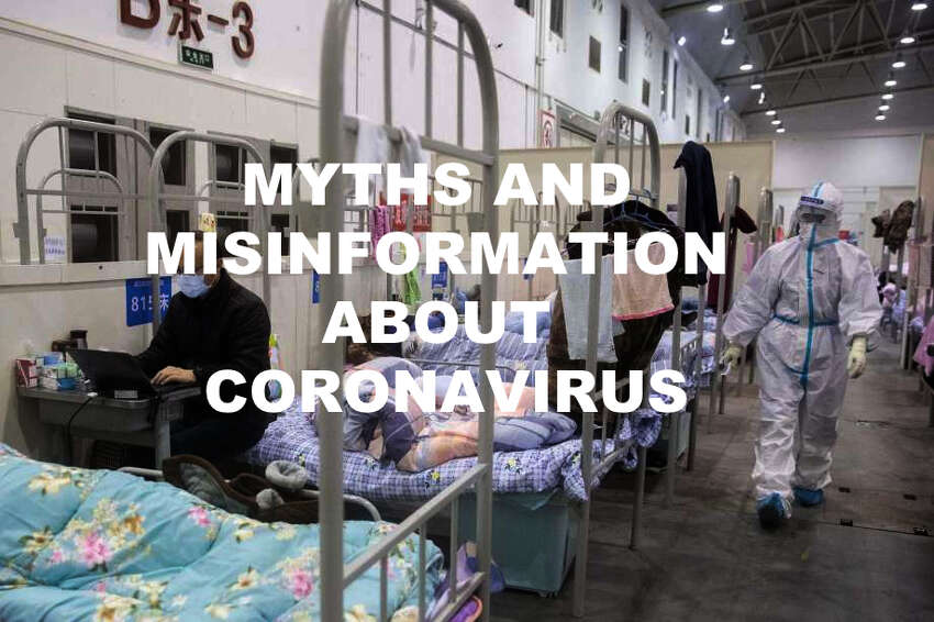 Click through the slideshow to learn the Myths and misinformation about coronavirus.