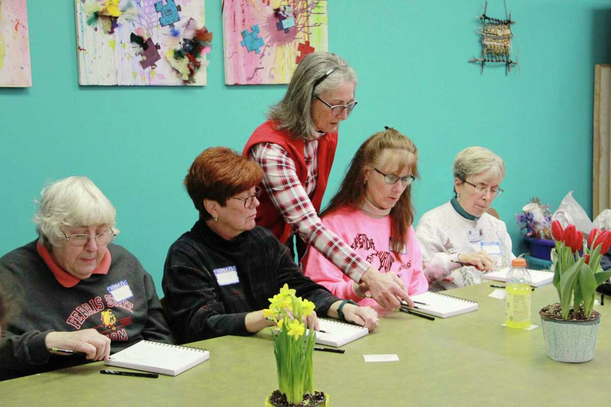 During a FOTA drawing workshop, beginners and more experienced artists alike learned new drawing techniques from Instructor Margo Berke. (Pioneer file photo)