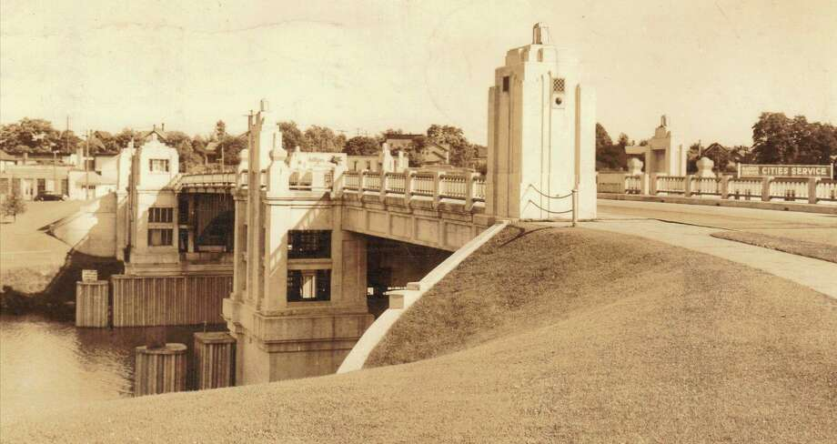 This early 1940s picture shows the Memorial Bridge in Manistee which is still being used to this day. The bridge was constructed in the 1930s.