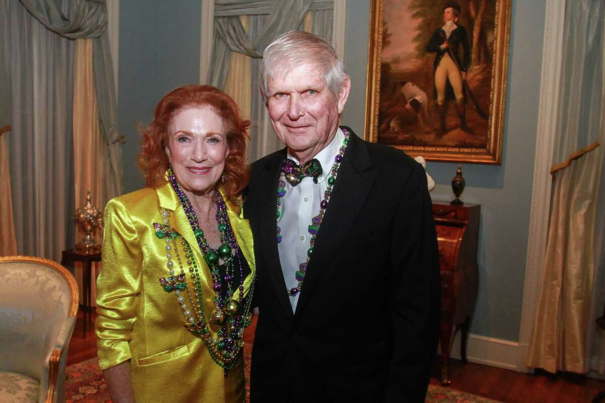 Isla and Tommy Reckling at the Museum of Fine Arts, Houston's Rienzi Society Dinner in Houston on February 25, 2020.
