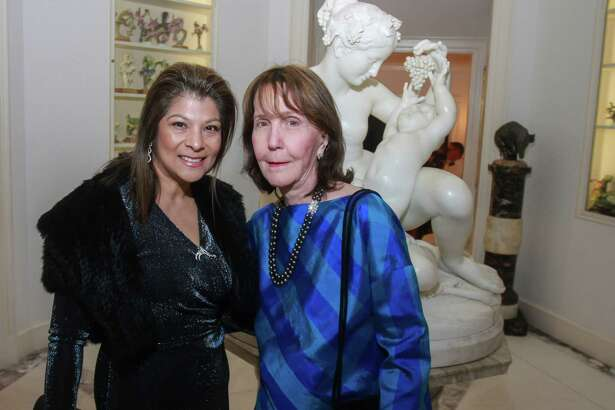 Petra Martinez, left, and Nancy Guinee at the Museum of Fine Arts, Houston's Rienzi Society Dinner in Houston on February 25, 2020.