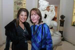 Petra Martinez, left, and Nancy Guinee at the Museum of Fine Arts, Houston's Rienzi Society Dinner in Houston on February 25, 2020.