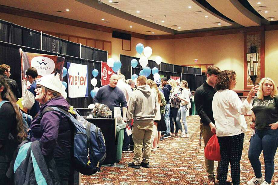 High school students from county schools attended the 2019 Business and Career Expo. This year's event will have a different format than previous years.Local employers, educational entities and nonprofit organizations will have interactiveand engaging experiences to showcase at their booths.(File photo)