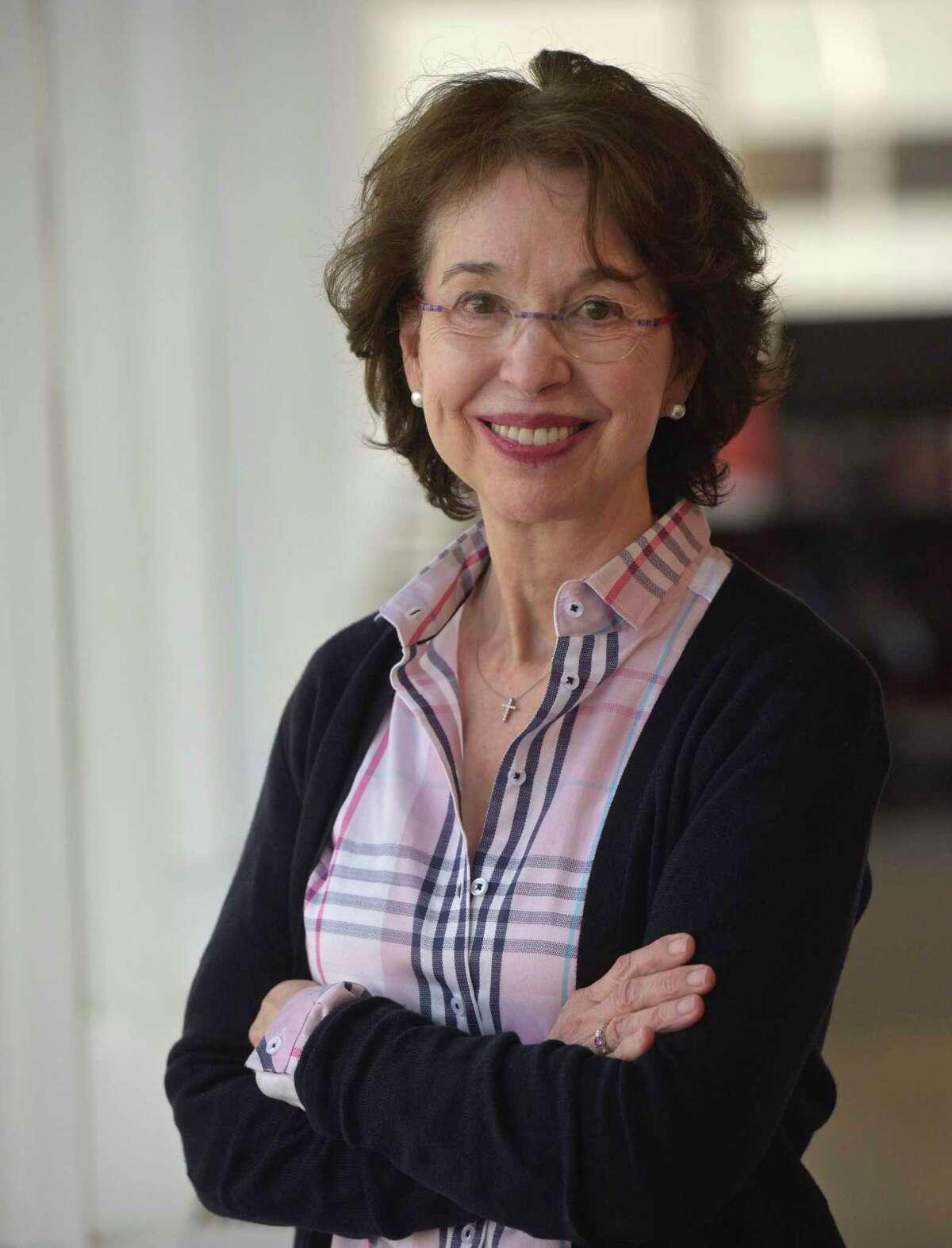 Barbara Dalio, Dalio Philanthropies' public education initiative, during an interview with Hearst Connecticut Media, in Norwalk on Monday.