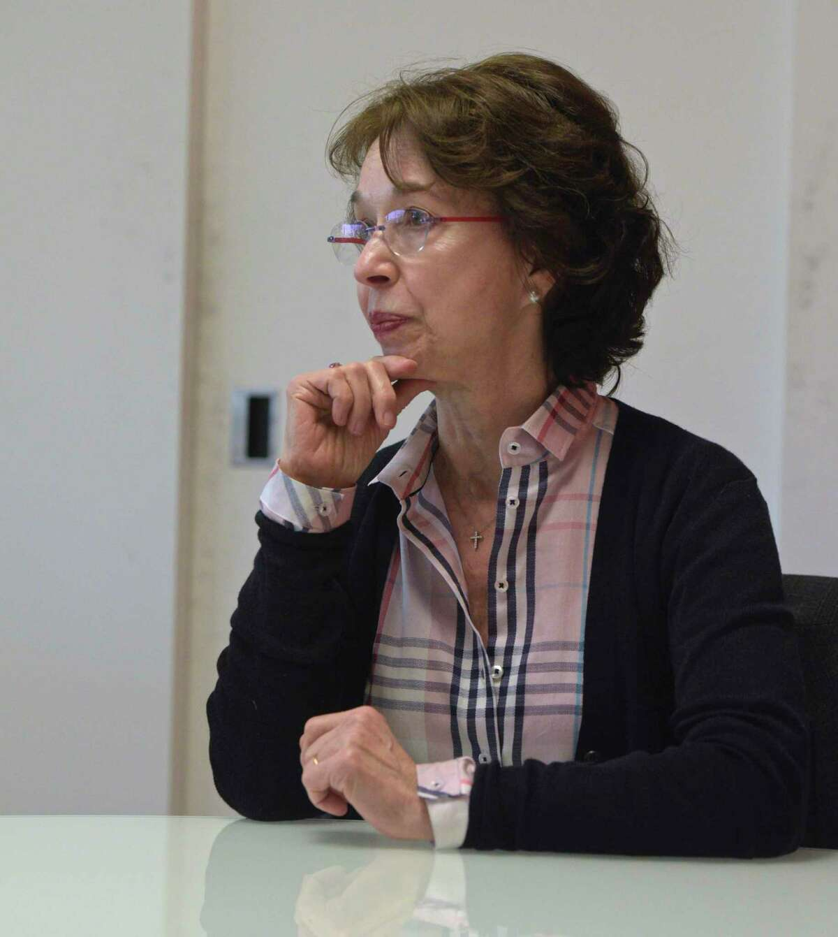 Barbara Dalio, during an interview with Hearst Connecticut Media, in Norwalk on Monday.