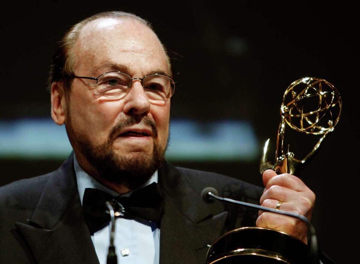 FILE - This June 14, 2007 file photo shows James Lipton with the Lifetime Achievement Awards from The National Academy of Television Arts & Sciences' 34th Annual Daytime Creative Arts & Entertainment Emmy Awards in Los Angeles. Lipton died Monday, March 2, 2020, of bladder cancer at his New York home, his wife, Kedakai Lipton, told the New York Times and the Hollywood Reporter. He was 93. (AP Photo/Kevork Djansezian, File)