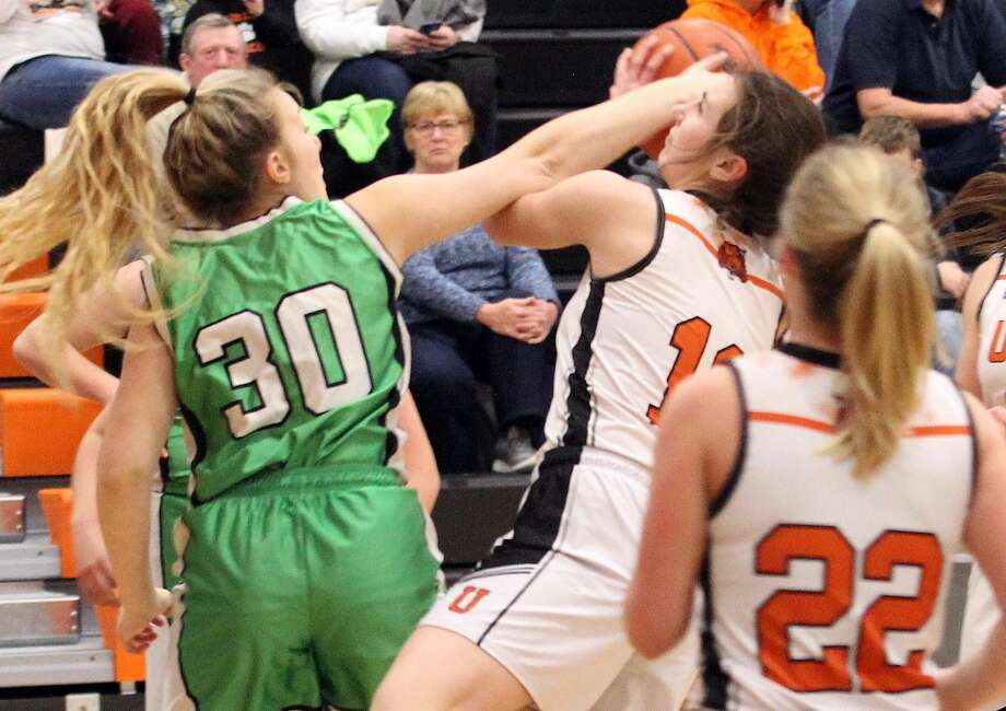 The Ubly girls basketball team opened district play with a 68-26 win over Akron-Fairgrove on Monday night. Photo: Mark Birdsall/Huron Daily Tribune
