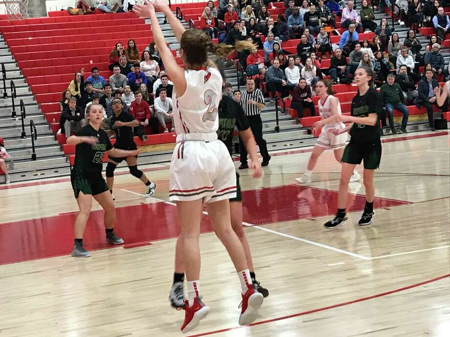 Julia Conforti scored 15 points for the Greenwich girls basketball team in its 69-55 win vs. Enfield Photo: David Fierro /Hearst Connecticut Media