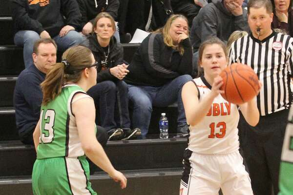 The Ubly girls basketball team opened district play with a 68-26 win over Akron-Fairgrove on Monday night.