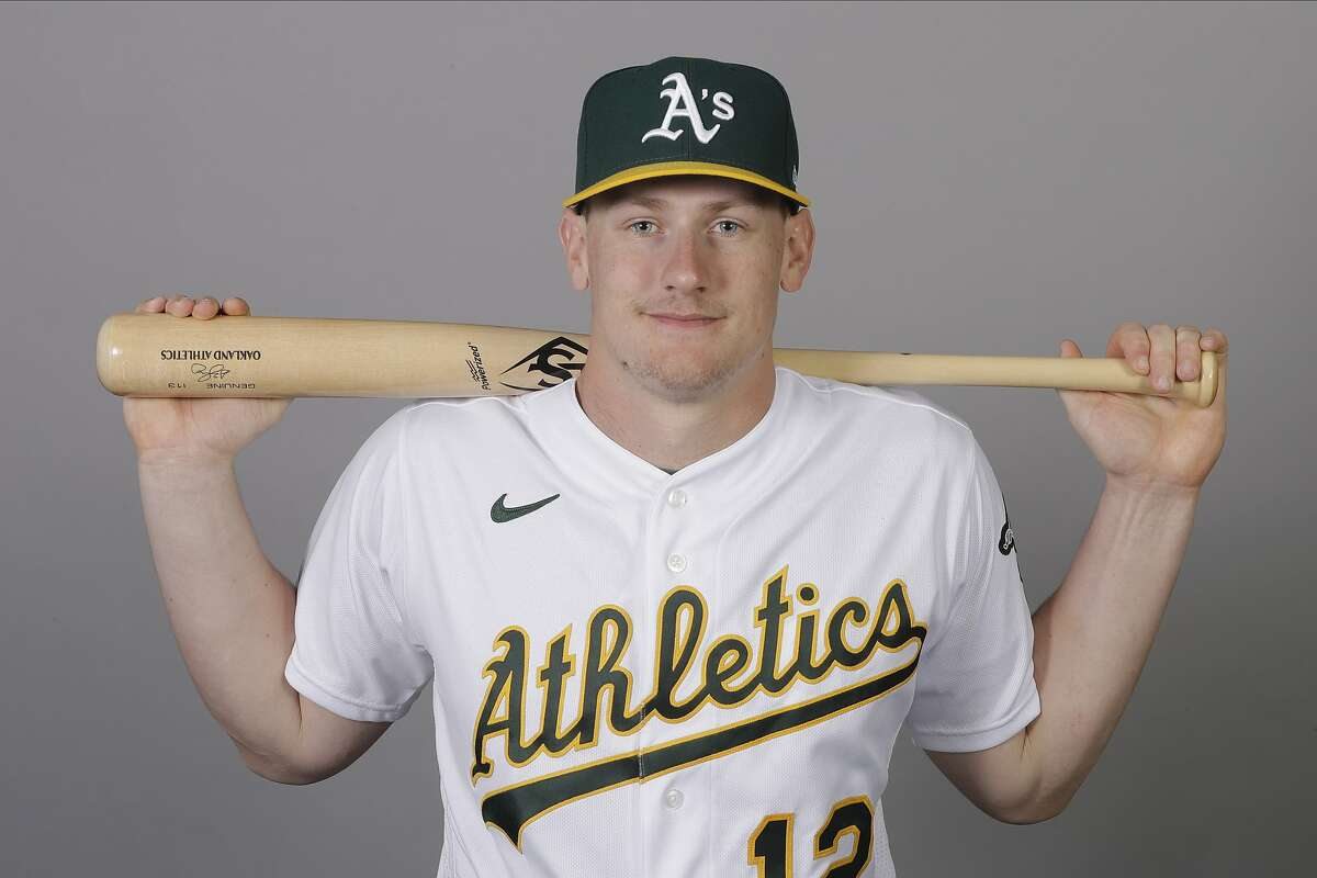 This is a 2020 photo of Sean Murphy of the Oakland Athletics baseball team. This image reflects the 2020 active roster as of Thursday, Feb. 20, 2020, when this image was taken. (AP Photo/Darron Cummings)