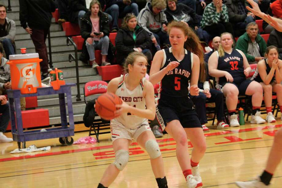 Ariana Costie (5) and the Big Rapids girls now have a 20-1 record. (Pioneer file photo)