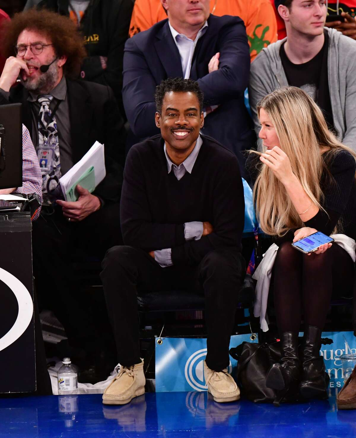 NEW YORK, NY - MARCH 02: Chris Rock attends Houston Rockets v New York Knicks game at Madison Square Garden on March 2, 2020 in New York City. (Photo by James Devaney/Getty Images)