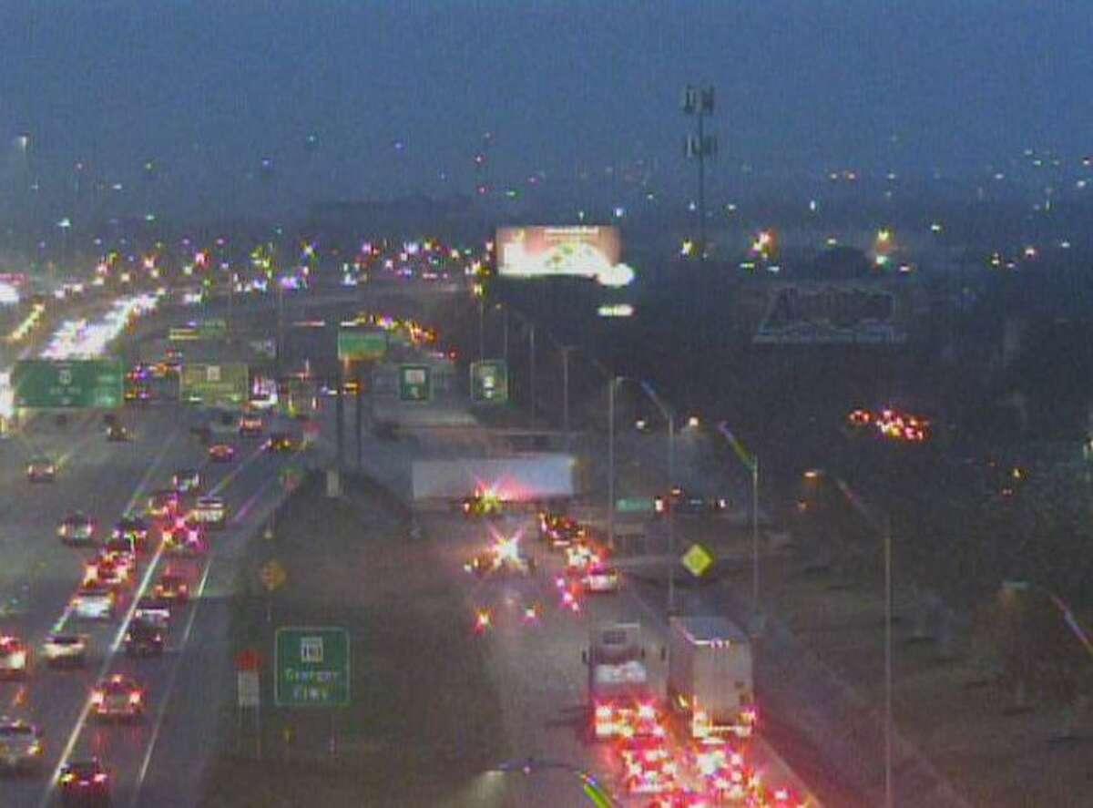 An 18-wheeler crash on U.S. 90 causes major delays.