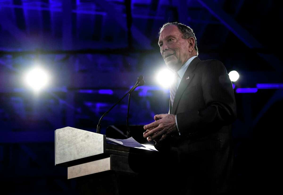 Presidential candidate Mike Bloomberg speaks during a rally in San Antonio on Sunday.