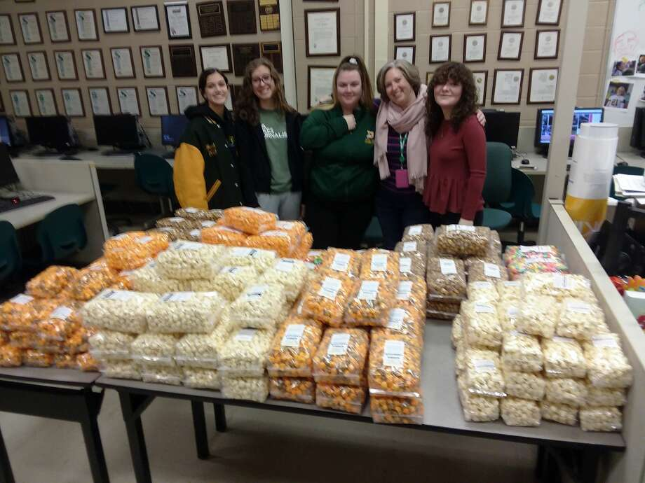 Journalism and English teacher Cammie Hall said students sold 244 bags of popcorn from Pop Pops Gourmet Popcorn in Midland. (Photo provided) Photo: Photo Provided