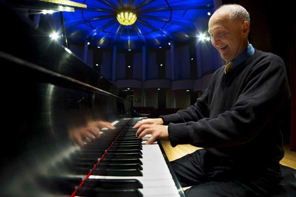 Max Lifchitz in UAlbany's recital hall.