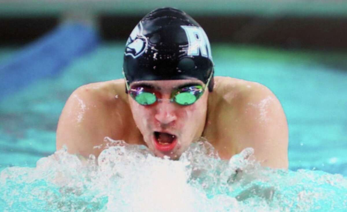 Hunter Wronski was Male Swimmer of the Meet at the New England Intercollegiate Swimming & Diving championship.