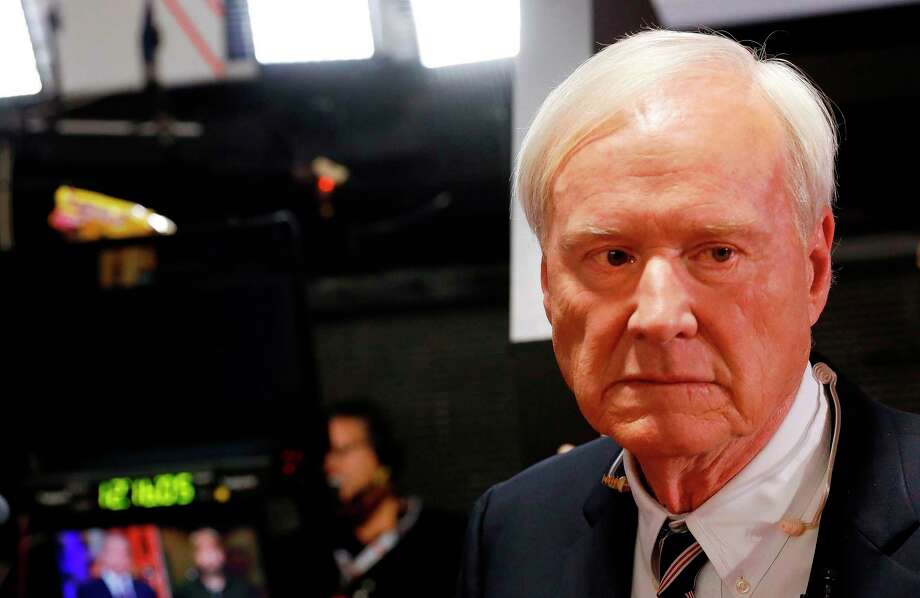 "Chris Matthews, host of MSNBC's political show ""Hardball"" prepares for interviews in the spin room after the Democratic Presidential Debate at the Fox Theatre on July 31, 2019 in Detroit, Michigan. - Chris Matthews anounced his retirement on the air during his last ""Hardball"" political show on March 2, 2020. (Photo by JEFF KOWALSKY / AFP) (Photo by JEFF KOWALSKY/AFP via Getty Images) Photo: JEFF KOWALSKY / AFP Via Getty Images / AFP or licensors"