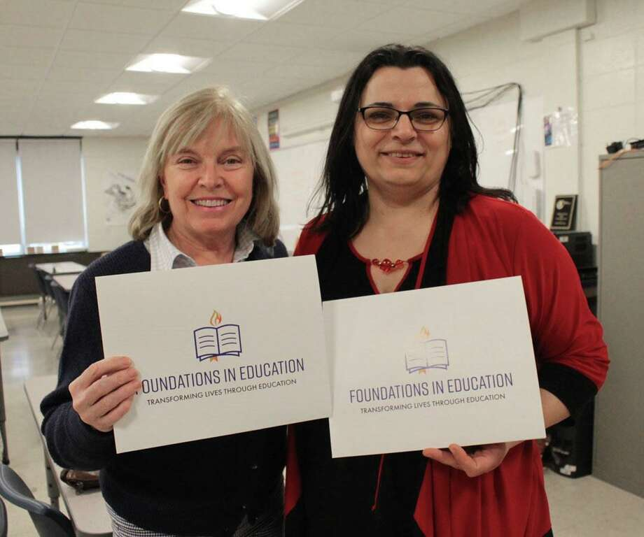 From left to right: Leslie Quinn and Jeanine Antonios, teachers at Immaculate High School, recently received grants from Foundations in Education. Photo: Contributed Photo / Contributed / The News-Times Contributed