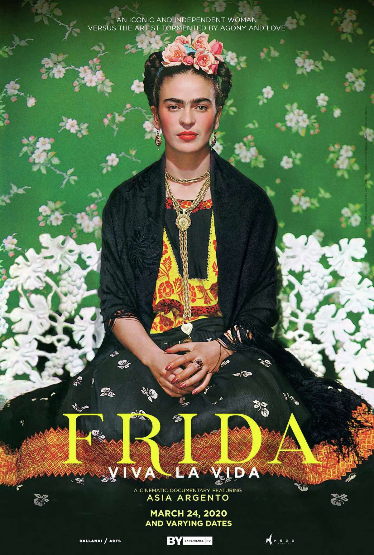 Frida - Viva La Vida will be screened on March 24 at 7:30 p.m. at the Ridgefield Playhouse, 80 East Ridge Road, Ridgefield. Tickets are $15. For more information, visit ridgefieldplayhouse.org.