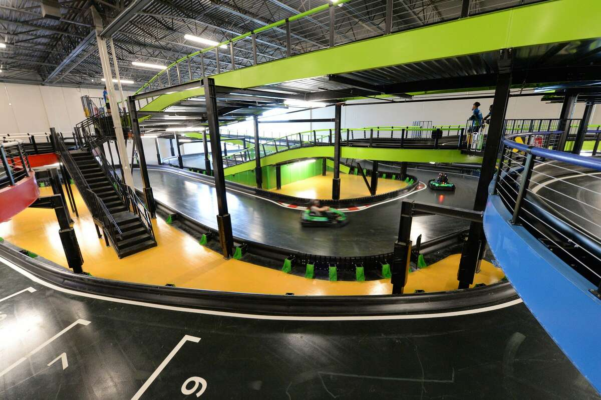 Adult/Intermediate race track at Andretti Indoor Karting & Games, Katy, TX on Monday, March 2, 2020.