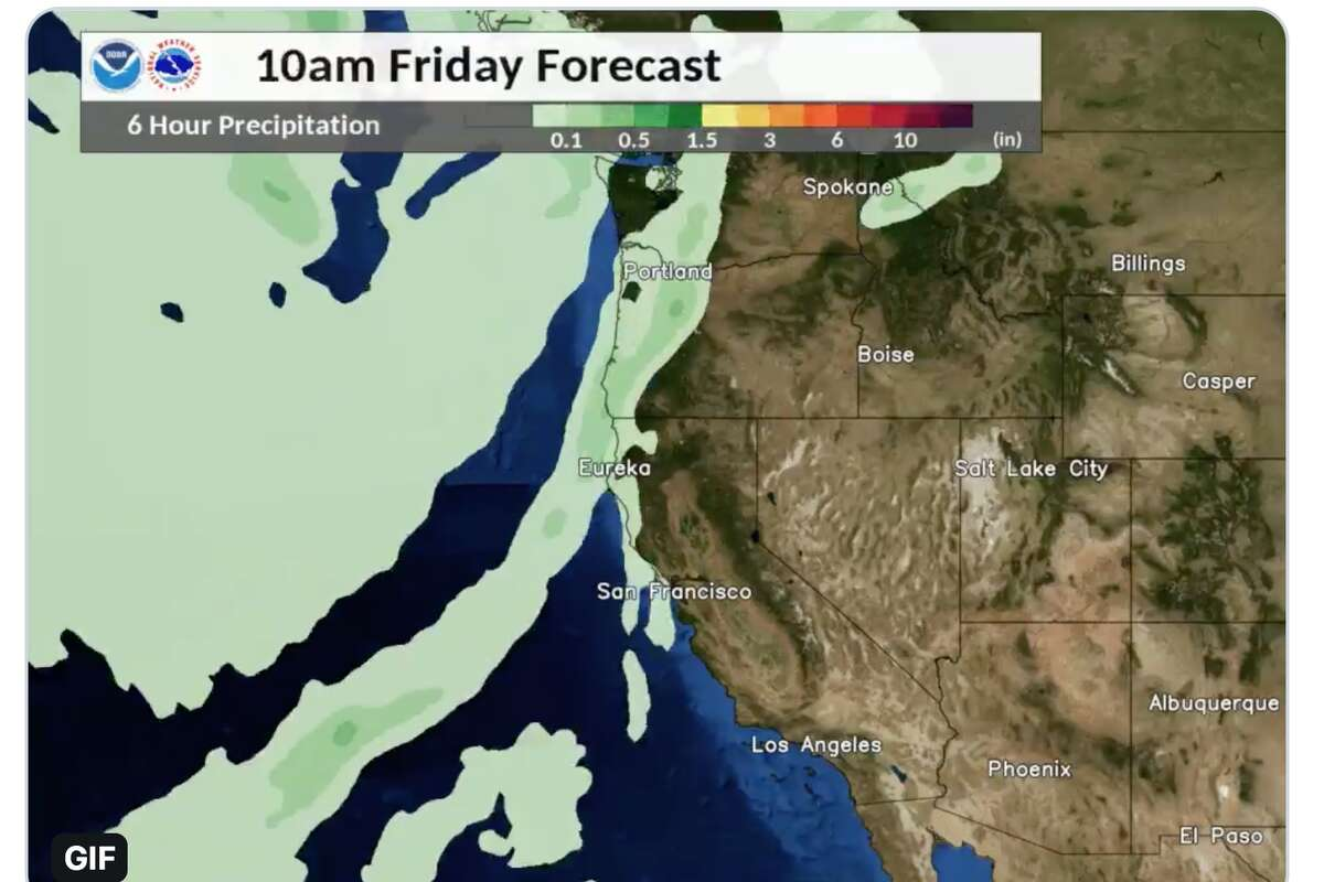A cold front is forecst to the sweep the Bay Area this weekend.