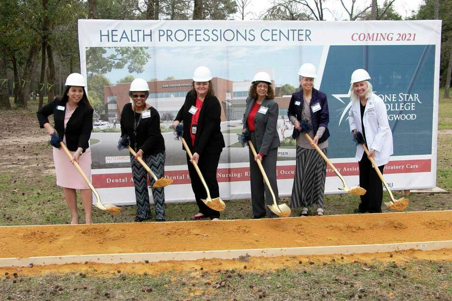 The groundbreaking ceremony for the new Lone Star Health Professions Center was held on March 2. Photo: Savannah Mehrtens/Staff Photo / Savannah Mehrtens/Staff Photo