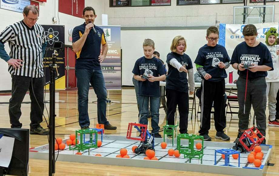 Three Manistee Catholic Central elementary Robotics teams competed at the state finals in Traverse City over the weekend. (Courtesy photo)