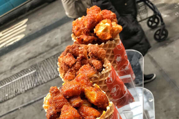 A new chicken and waffle joint is coming to the Heights — and it presents the classic combo in a cone. Chick'nCone is located at 1919 N Shepherd Drive.