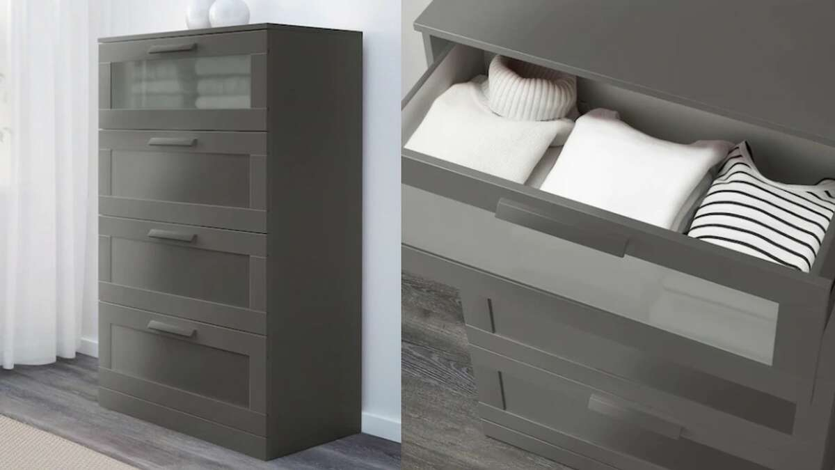 BRIMNES 4-Drawer Dresser, $159