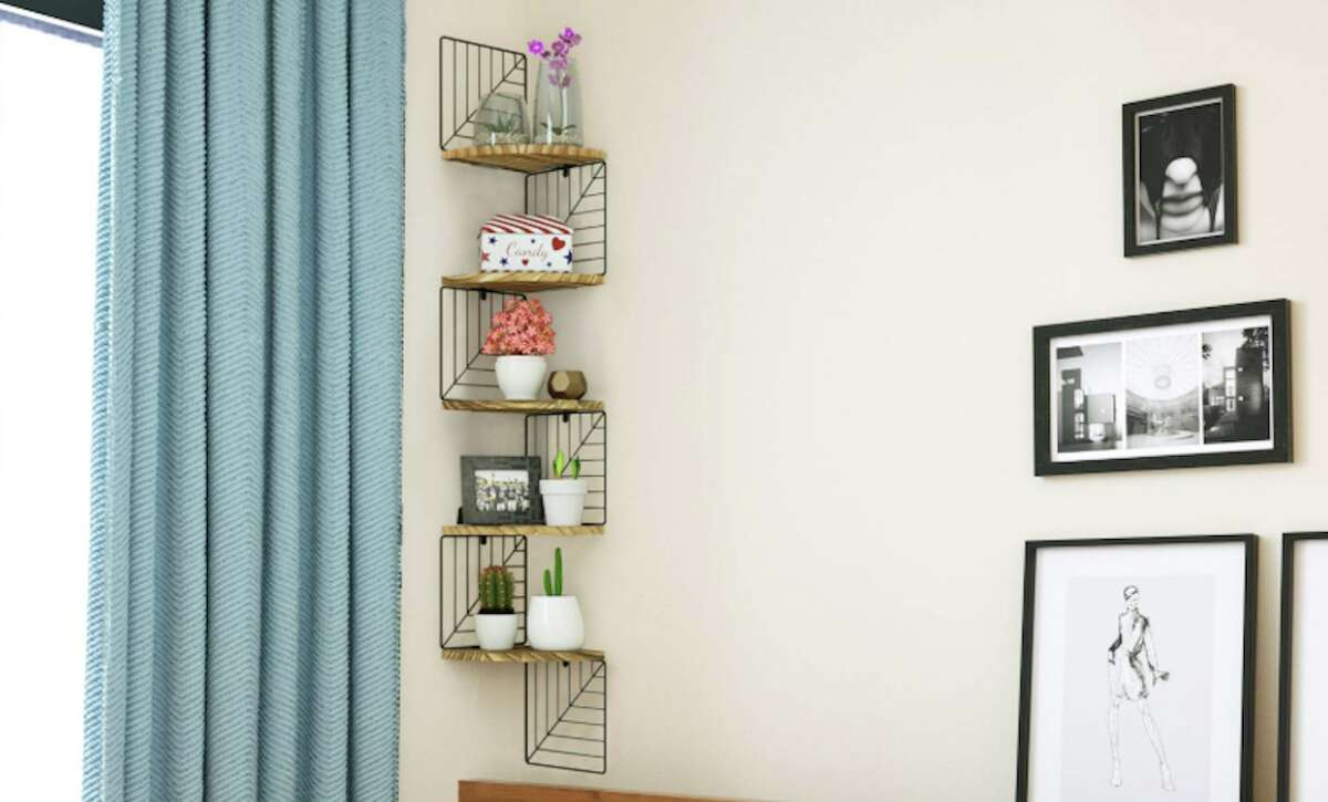5-Tier Rustic Wood Floating Shelves, $24.99 (Normally $29.99)