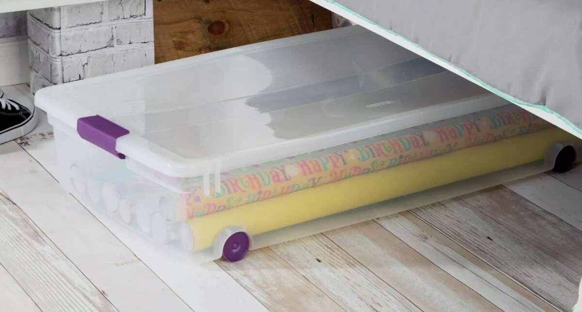 Sterilite 60qt ClearView Latch Underbed Storage Bin, $16.99